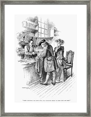 Christmas Shopping, C1750 Framed Print by Granger