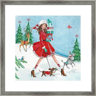 Christmas Shopping Framed Print by Caroline Bonne-Muller