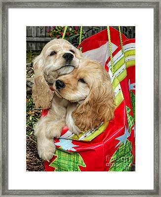 Christmas Shopping Framed Print