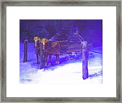 Christmas Sleigh Ride - Anticipation Framed Print
