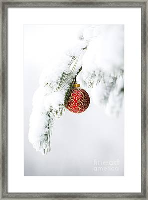 Christmas Snow Framed Print by Diane Diederich