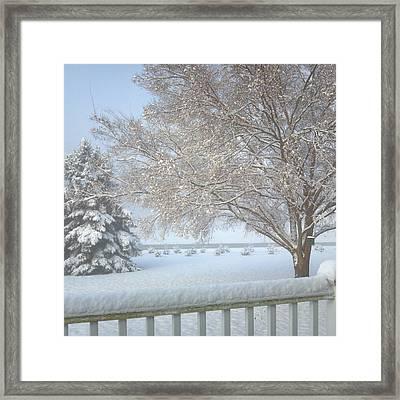 Christmas Snow Framed Print by Karen Rhodes