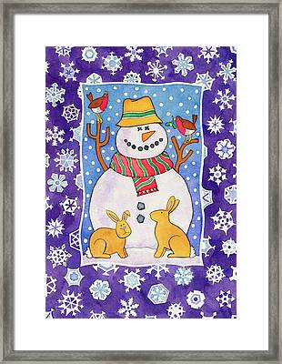 Christmas Snowflakes Framed Print by Cathy Baxter