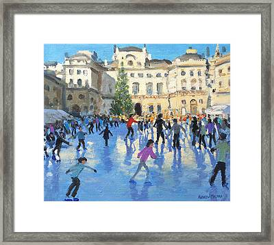 Christmas Somerset House Framed Print by Andrew Macara