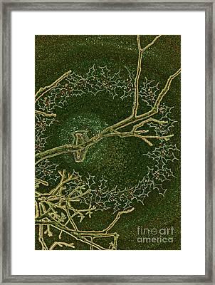 Christmas Songbird Framed Print by First Star Art