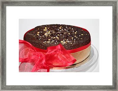 Christmas Spice Chocolate Fruit Cake Framed Print by Ash Sharesomephotos