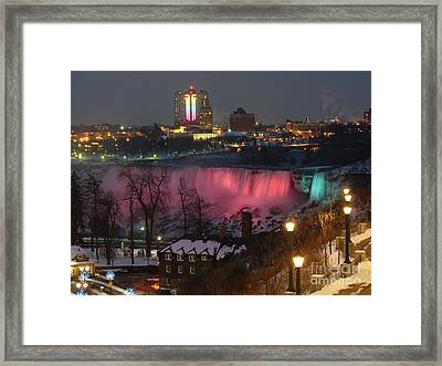 Christmas Spirit At Niagara Falls Framed Print