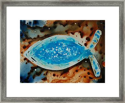 Spirit  - Fish Art By Sharon Cummings Framed Print by Sharon Cummings