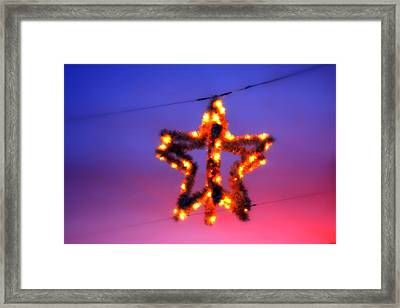Framed Print featuring the photograph Christmas Star by Aurelio Zucco