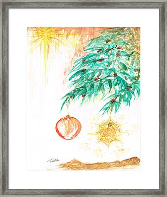 Framed Print featuring the painting Christmas Star by Teresa White