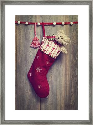 Christmas Stocking Framed Print by Amanda Elwell