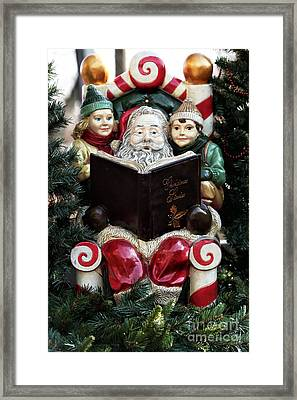 Christmas Stories Framed Print by John Rizzuto