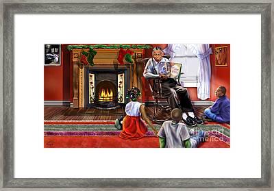 Christmas Story Framed Print by Reggie Duffie