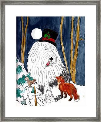 Christmas Story Teller Framed Print