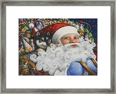 Christmas Stowaway Framed Print