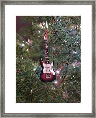 Christmas Stratocaster Framed Print by Richard Reeve