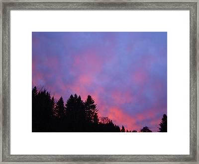 Christmas Sunrise Framed Print by Lisa Rose Musselwhite
