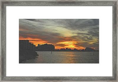 Christmas Sunset 4 Framed Print