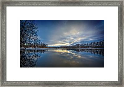 Christmas Sunset Framed Print by Everet Regal