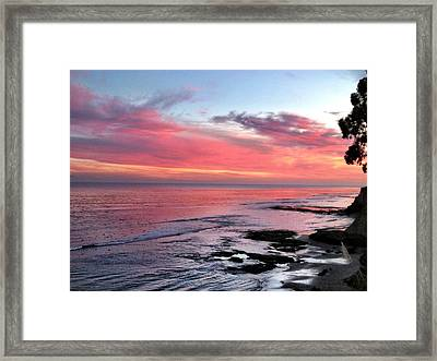 Christmas Sunset Framed Print by Lora Lee Chapman
