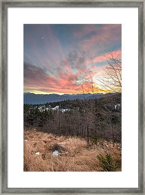 Christmas Sunset Framed Print