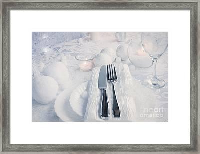 Christmas Table Setting Framed Print
