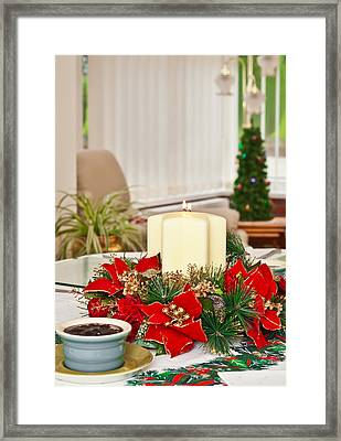 Christmas Table Framed Print by Tom Gowanlock