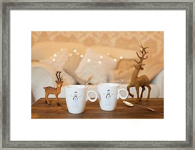 Christmas Teabreak Framed Print
