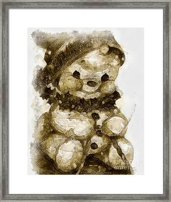 Christmas Teddy Bear Framed Print