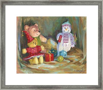 Christmas Teddy Bears Framed Print by David Garrison