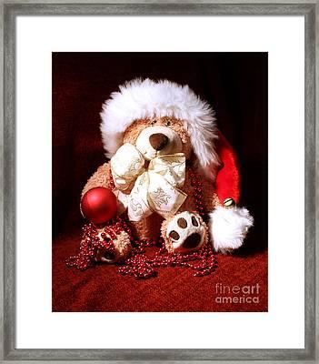 Christmas Teddy Framed Print