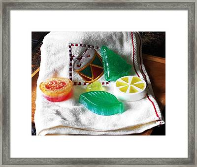 Christmas Thoughts Soap Framed Print