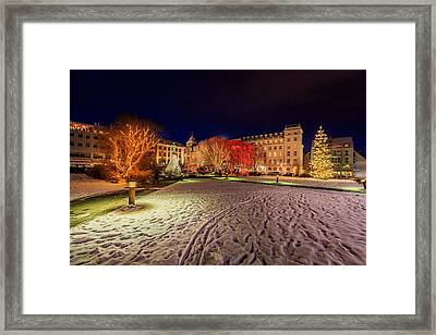 Christmas Time At Austurvollur Framed Print by Panoramic Images
