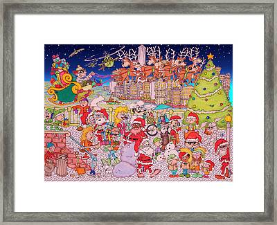 Christmas Time In The City Framed Print