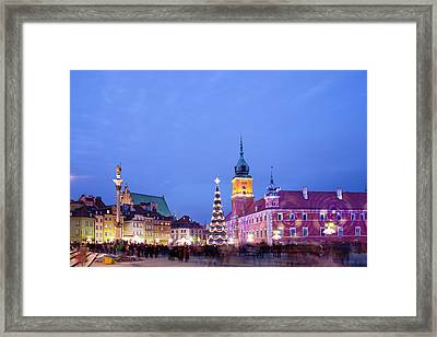 Christmas Time In Warsaw Framed Print by Artur Bogacki