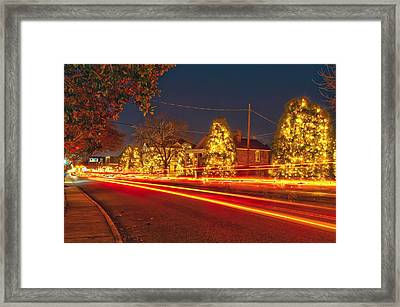 Framed Print featuring the photograph Christmas Town Usa by Alex Grichenko