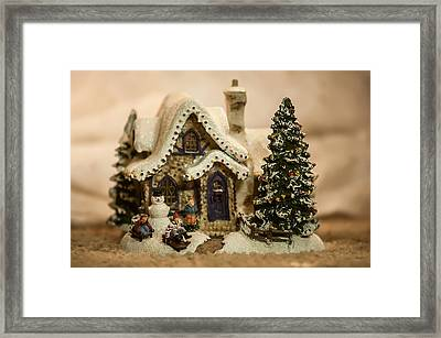Framed Print featuring the photograph Christmas Toy Village by Alex Grichenko