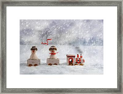 Christmas Train Framed Print
