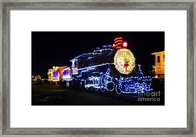 Christmas Train Coos Bay Oregon Framed Print
