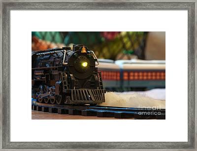 Christmas Train Framed Print by Eddie Yerkish