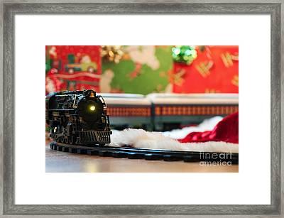 Christmas Train II Framed Print by Eddie Yerkish