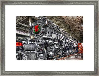 Christmas Train-the Holiday Station Framed Print