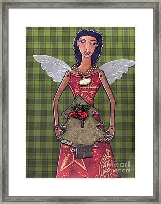 Christmas Tree Angel Framed Print
