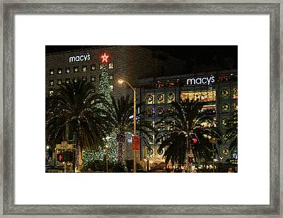 Christmas Tree At Union Square Framed Print