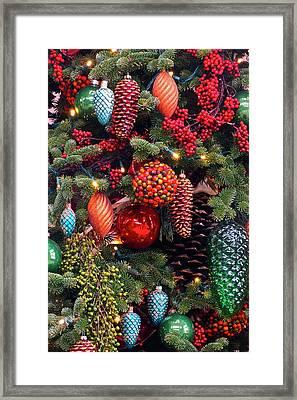 Christmas Tree Cheer Framed Print by Byron Varvarigos