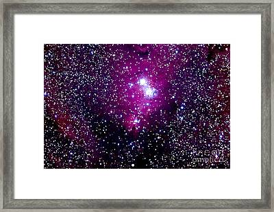 Christmas Tree Cluster And Cone Nebula Framed Print by John Chumack