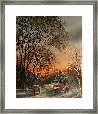 Christmas Tree Delivery Framed Print by Tom Shropshire