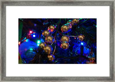 Christmas Tree Detail 1 Framed Print by Mick Anderson