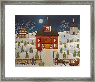 Christmas Tree Farm Framed Print by Mary Charles
