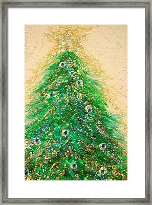 Christmas Tree Gold By Jrr Framed Print